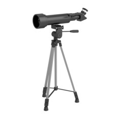 realistic 3d render of telescope