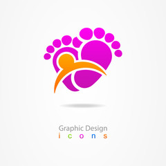 logo business traces web icon baby
