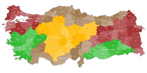 Landkarte der Türkei