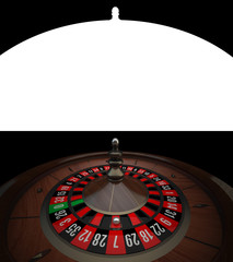 Wooden Casino Roulette with alpha channel