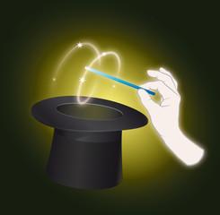Zauberei  aus dem Hut