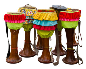 Isolates the drum Thailand, which are furnished with rag