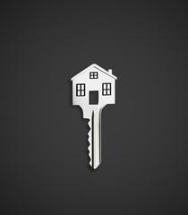 house shaped key
