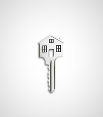 house shaped key
