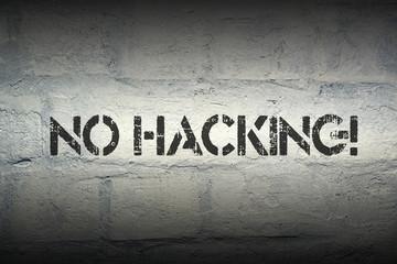 no hacking