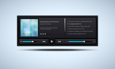 Audio player interface - vector illustration