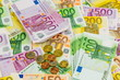 canvas print picture - many different euro bills