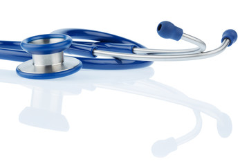 stethoscope against white background