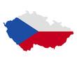 Karte und Fahne von Tschechien