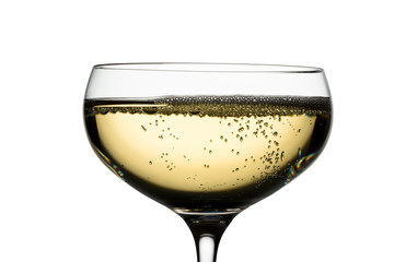 champagne glass with champagne