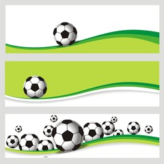 3 Fussballbanner