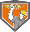 Electrician Wield Lightning Bolt Side Crest