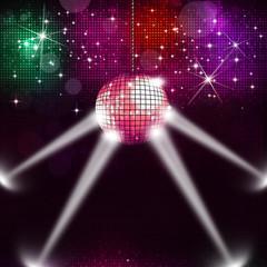 Disco Ball Music Background