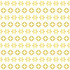 Kachel mit gelben Sonnen