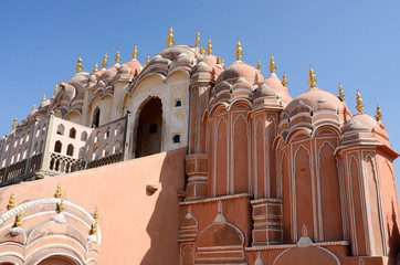 Top floor of Hawa Mahal Palace in Jaipur,Rajasthan,India,unesco