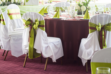 wedding chairs with decoration