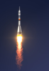"Carrier rocket ""Soyuz-FG"" Launch"