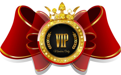 VIP bow with crown
