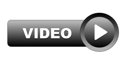 """VIDEO"" Web Button (play watch live view launch icon symbol key)"