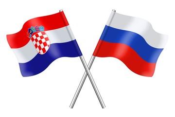 Flags: Croatia and Russian Federation