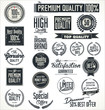Premium quality stickers and elements retro design