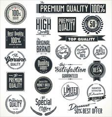Premium quality stickers and elements retro design