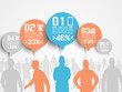 BUSINESSMAN INFOGRAPHIC OPTION THREE 3 ORANGE