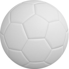 Digitally generated white leather football