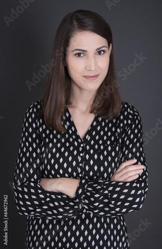canvas print picture Bewerbungsfoto einer jungen Business Frau
