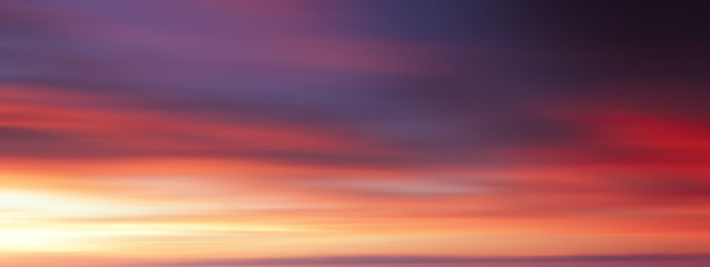 Colorful sunset with long exposure effect