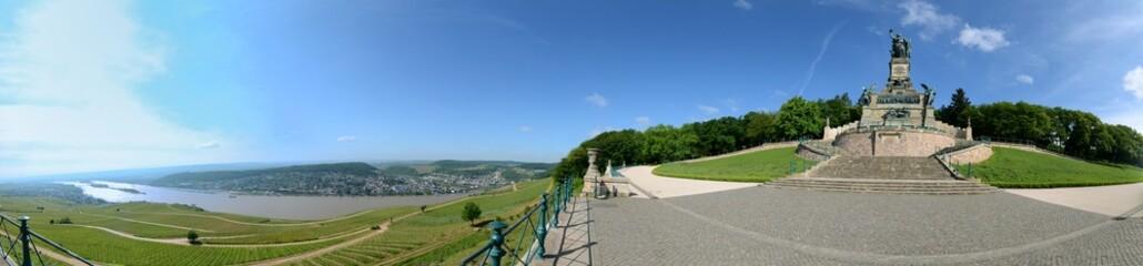 Rüdesheim Niederwalddenkmal Panorama