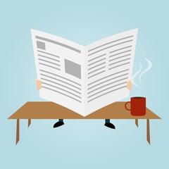 zeitung lesen kaffee nachrichten