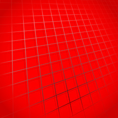 Abstract grid, mesh in perspective. Grid rotated in 3D space.