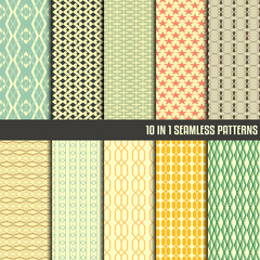 10 in 1 collection of seamless pattern