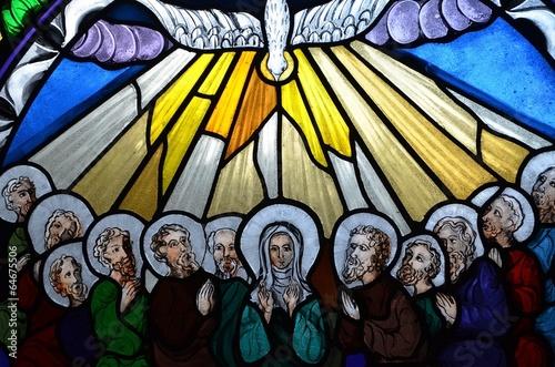 Obraz na Szkle Zesłanie Ducha Świętego