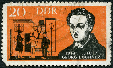 GERMANY - 1963:shows Georg Buchner (1813-1837), German dramatist