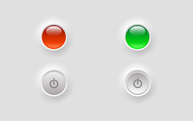 buttons with control lights