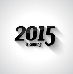 Modern Flat Style 2015 New Year