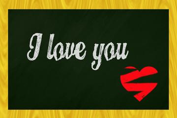 I love you blackboard