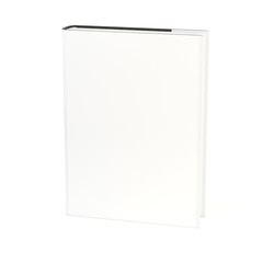 Book with dust cover isolated
