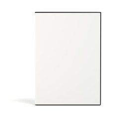 Blank DVD case isolated on white background