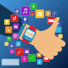 Smart watch background