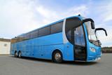 Fototapety Blue Bus on Parking Lot