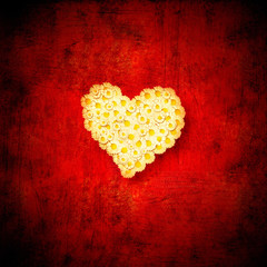 Heart love red background