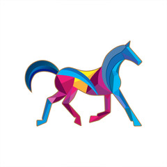 horse Bluе Magenta