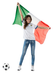Ragazza Tifosa Italia - Mondiali Calcio