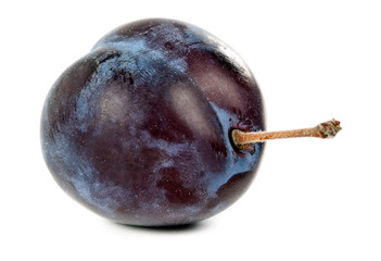 a ripe plum closeup