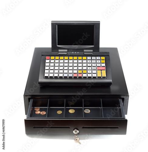 Cash Register on White - 64679919