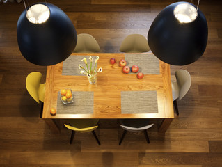Interior design - dining table