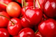 Red Sweet Cherries Close-Up
